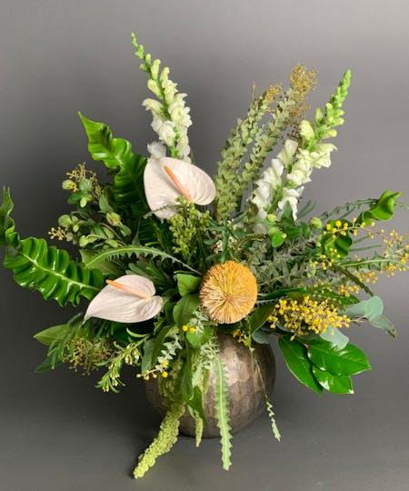 Sympathy Vases + Table Arrangements