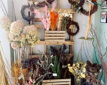 All manner of floral accents and home décor items available on the floor of our Glen Burnie location